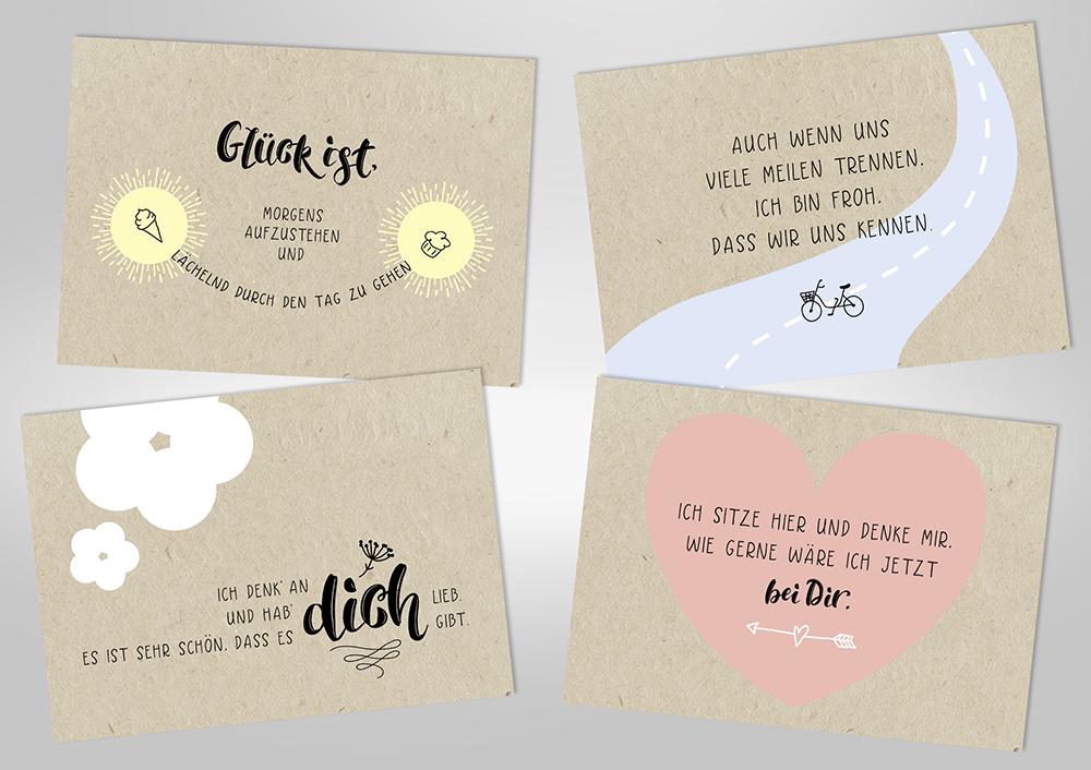 """Postkarten-Set """"Wie gern ..."""""""