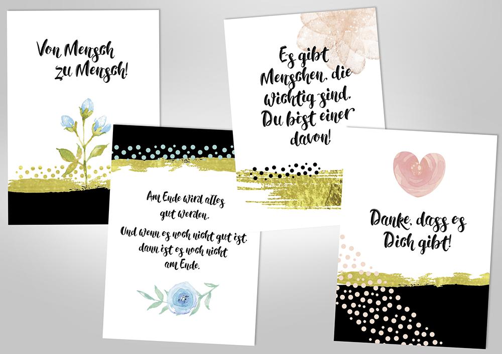 """Postkarten-Set """"Von Mensch zu Mensch"""""""