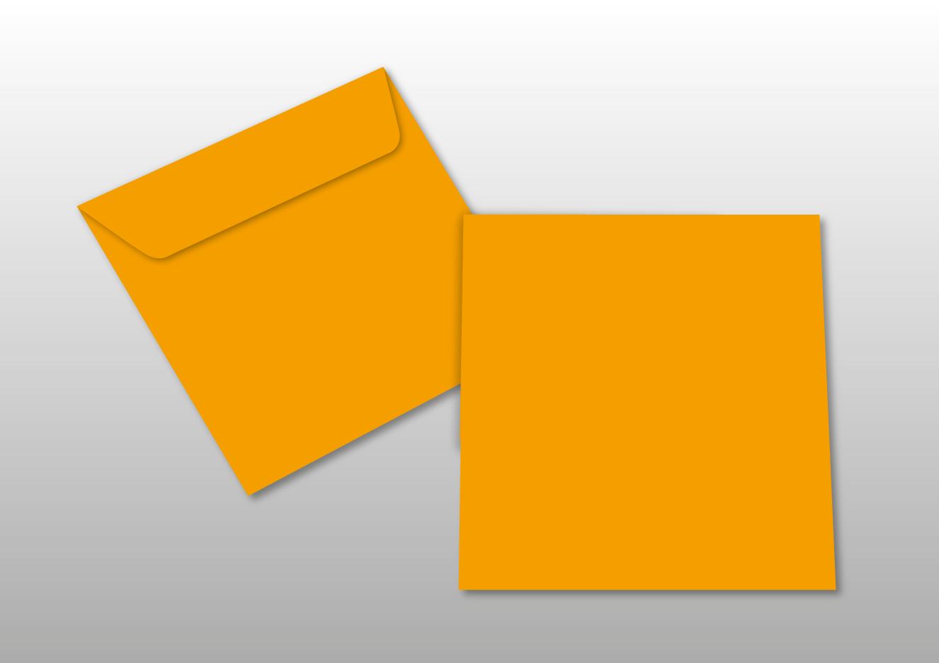 Kuverts für Quadratkarten, orange