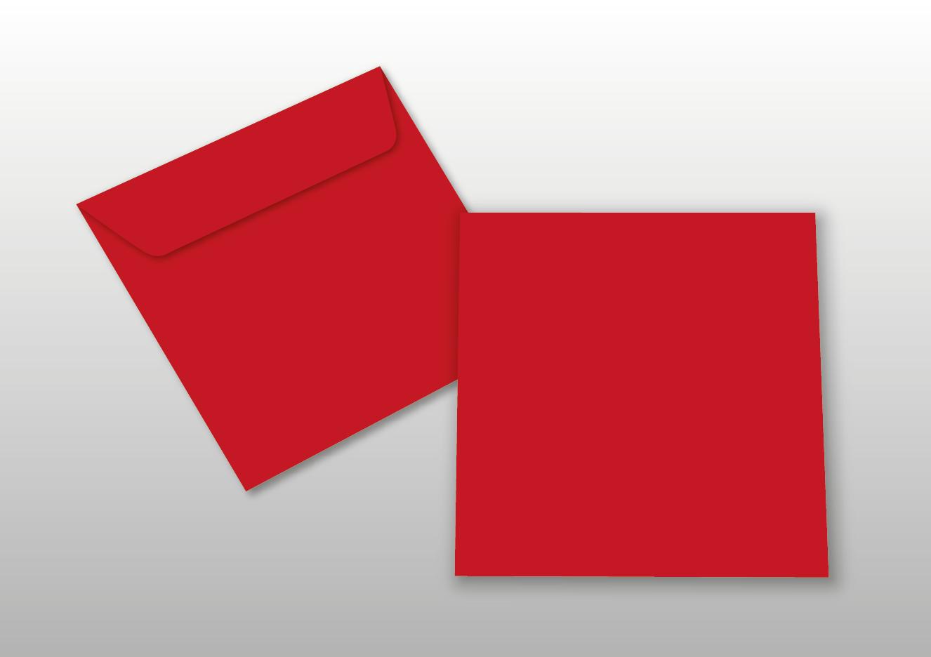 Kuverts für Quadratkarten, rot