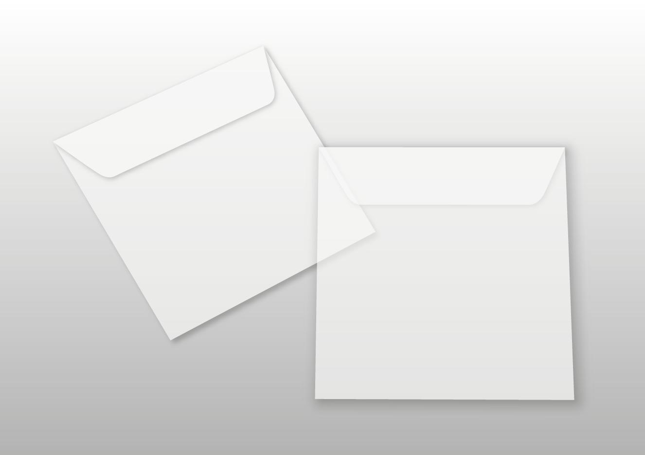 Kuverts für Quadratkarten, transparent