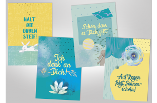 """Postkarten-Set """"Halt' die Ohren steif!"""""""