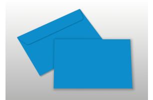 Kuverts für A6-Karten, blau