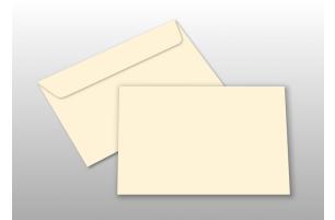 Kuverts für A6-Karten, creme