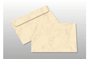 Kuverts für A6-Karten, creme marmoriert