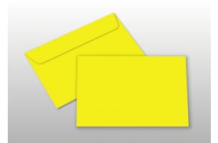 Kuverts für A6-Karten, gelb