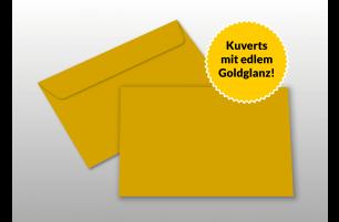 Kuverts für A6-Karten, gold glänzend