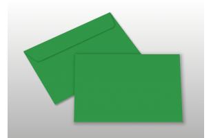 Kuverts für A6-Karten, grün