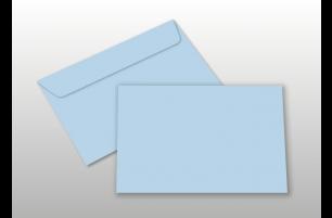 Kuverts für A6-Karten, hellblau