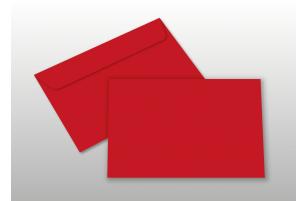Kuverts für A6-Karten, rot