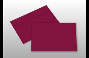 Kuverts für A6-Karten, weinrot