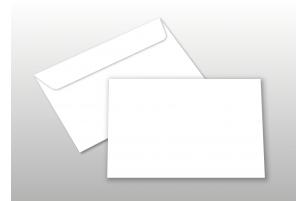 Kuverts für A6-Karten, weiß