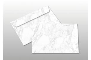 Kuverts für A6-Karten, weiß marmoriert