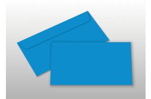 Kuverts für DIN lang-Karten, blau