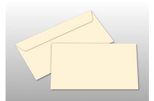 Kuverts für DIN lang-Karten, creme