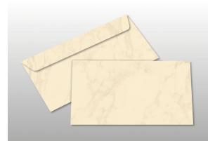 Kuverts für DIN lang-Karten, creme marmoriert