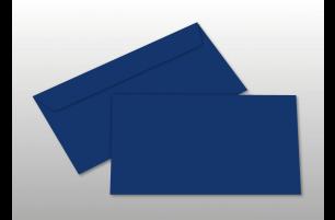 Kuverts für DIN lang-Karten, dunkelblau