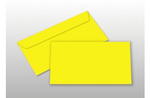 Kuverts für DIN lang-Karten, gelb