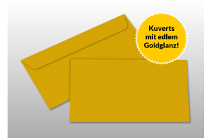 Kuverts für DIN lang-Karten, gold glänzend