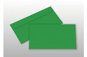 Kuverts für DIN lang-Karten, grün