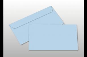 Kuverts für DIN lang-Karten, hellblau