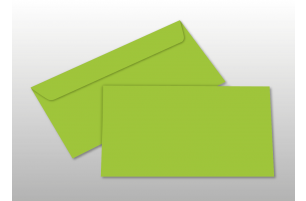 Kuverts für DIN lang-Karten, hellgrün