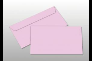 Kuverts für DIN lang-Karten, rosa