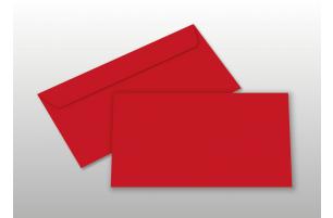 Kuverts für DIN lang-Karten, rot