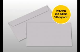 Kuverts für DIN lang-Karten, silber glänzend
