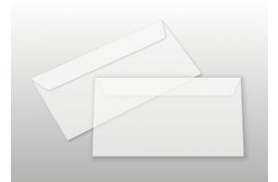 Kuverts für DIN lang-Karten, transparent