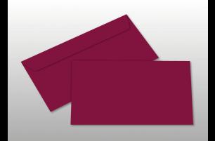 Kuverts für DIN lang-Karten, weinrot