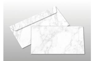 Kuverts für DIN lang-Karten, weiß marmoriert