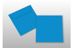 Kuverts für Quadratkarten, blau