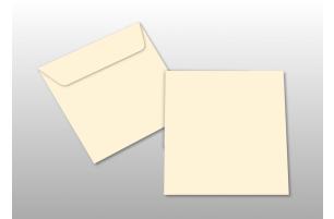 Kuverts für Quadratkarten, creme
