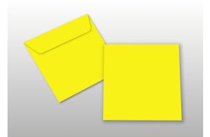 Kuverts für Quadratkarten, gelb