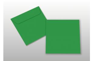 Kuverts für Quadratkarten, grün