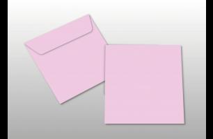 Kuverts für Quadratkarten, rosa