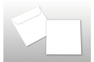 Kuverts für Quadratkarten, weiß