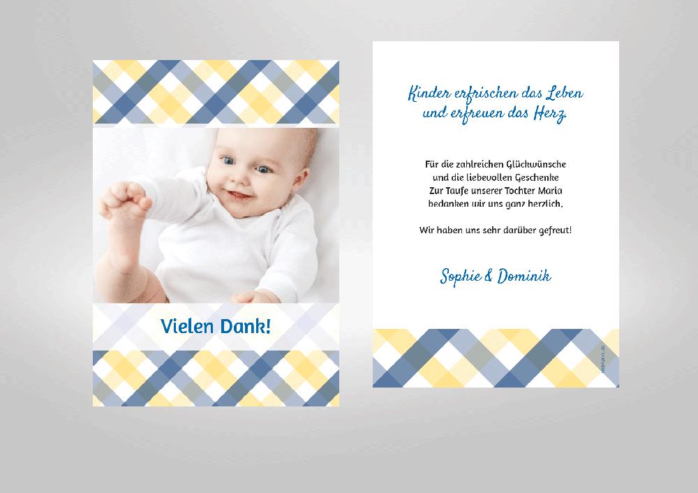 Dankeskarten Zur Taufe Ihres Babys Zum Selbstgestalten
