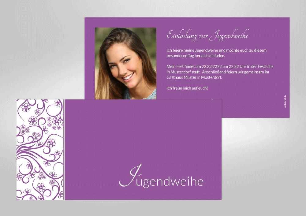 jugendweihe - einladungskarten - kommunion & co., Einladung