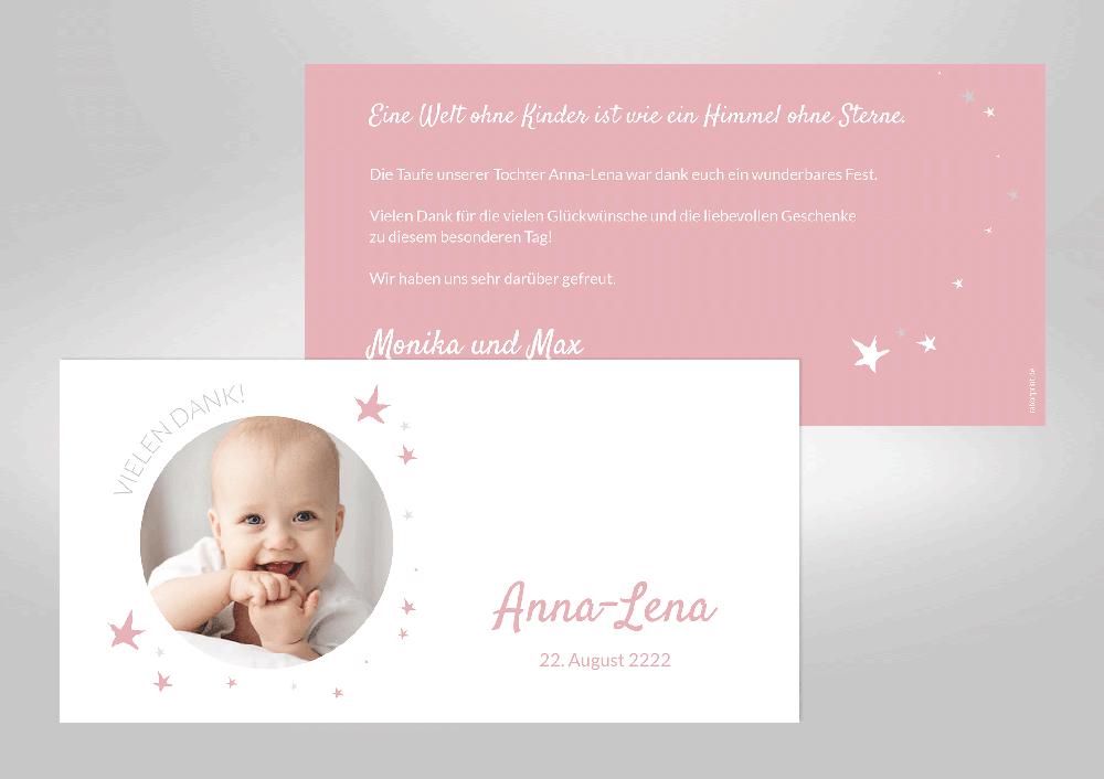 Taufe - Dankeskarten - Geburt & Taufe
