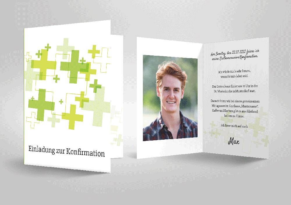 originelle einladungskarten zu konfirmation oder kommunion zum, Einladung