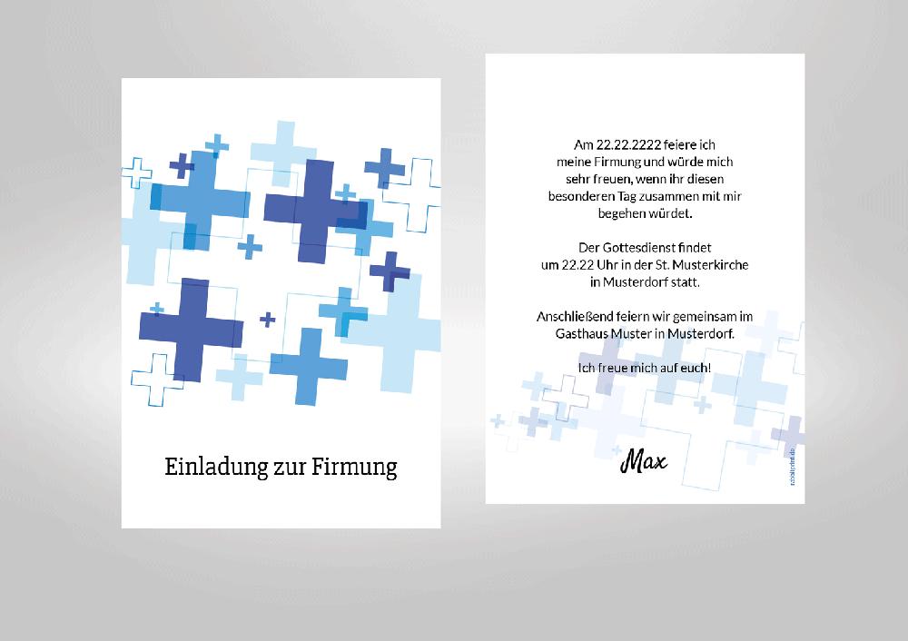 Firmung Einladungskarten Kommunion Co
