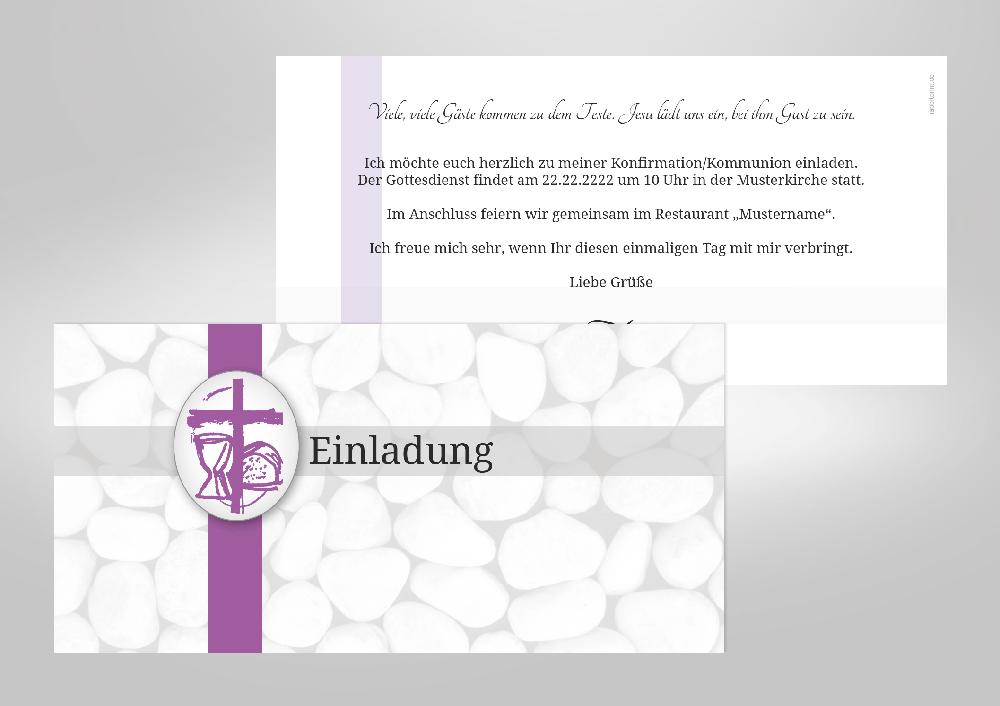 Kieselsteine. Kieselsteine. Kieselsteine. Kreative Einladungskarten Zu  Kommunion ...