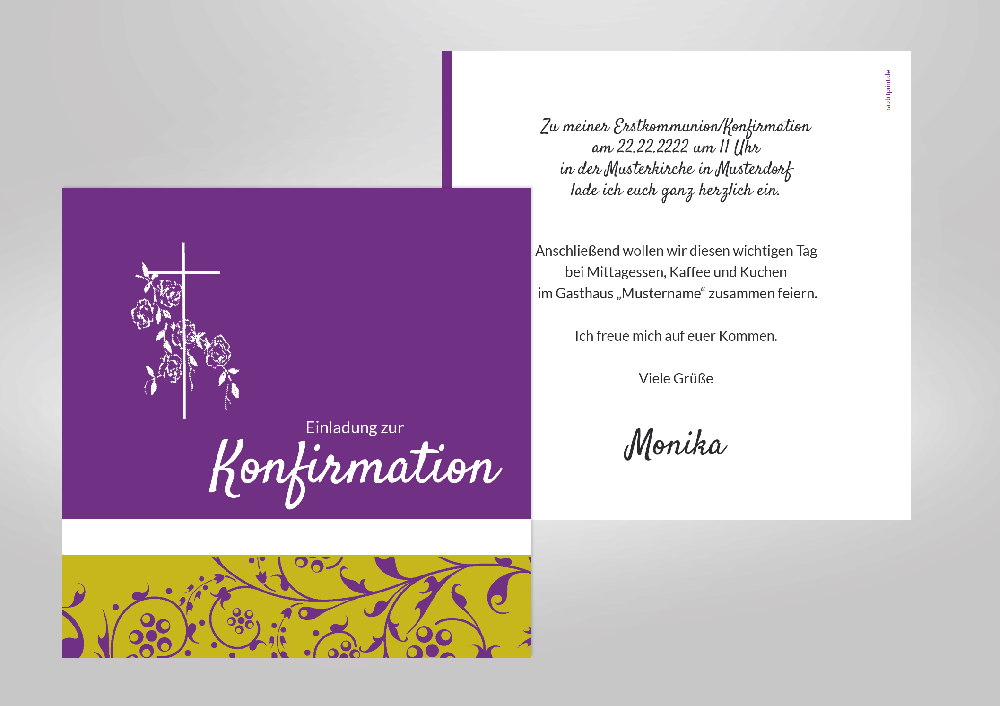 konfirmation - einladungskarten - kommunion & co., Einladungen