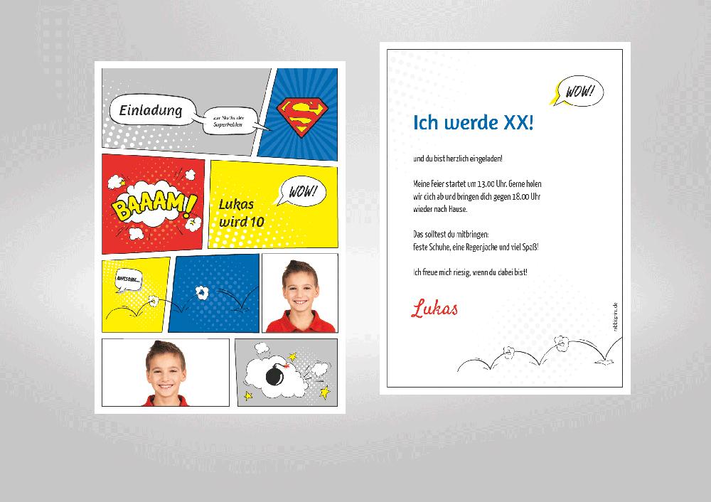 Einladungskarten Superhelden – cloudhash.info