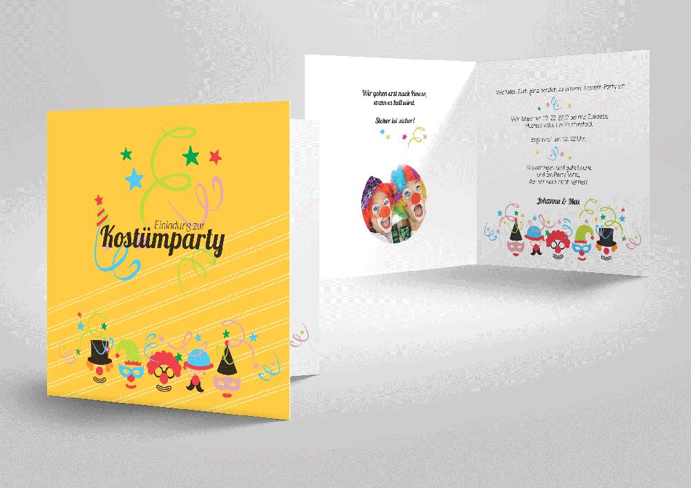 Mottoparty - Einladungskarten - Anlässe