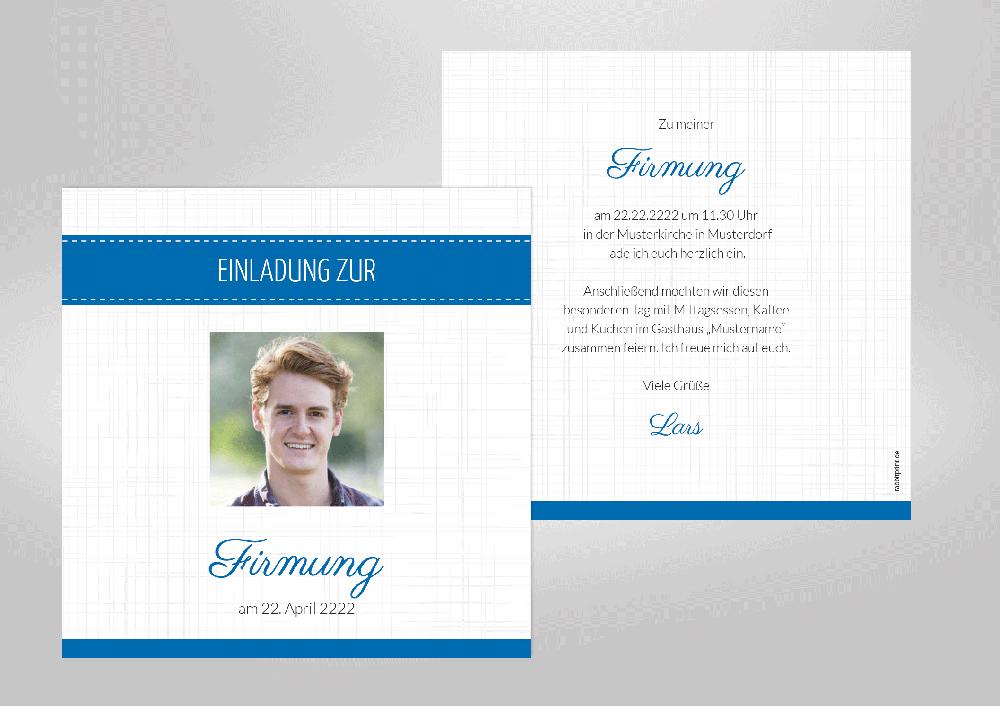 firmung - einladungskarten - kommunion & co., Einladung