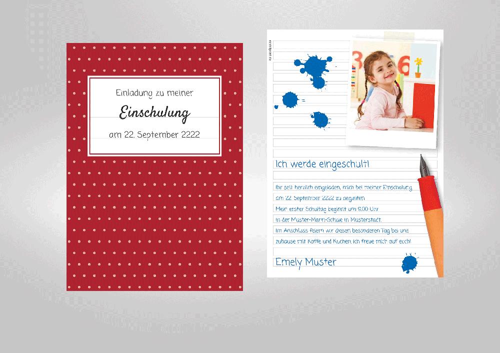 Kreative Einladungskarte Zur Einschulung Ihres Sprösslings! Schulheft
