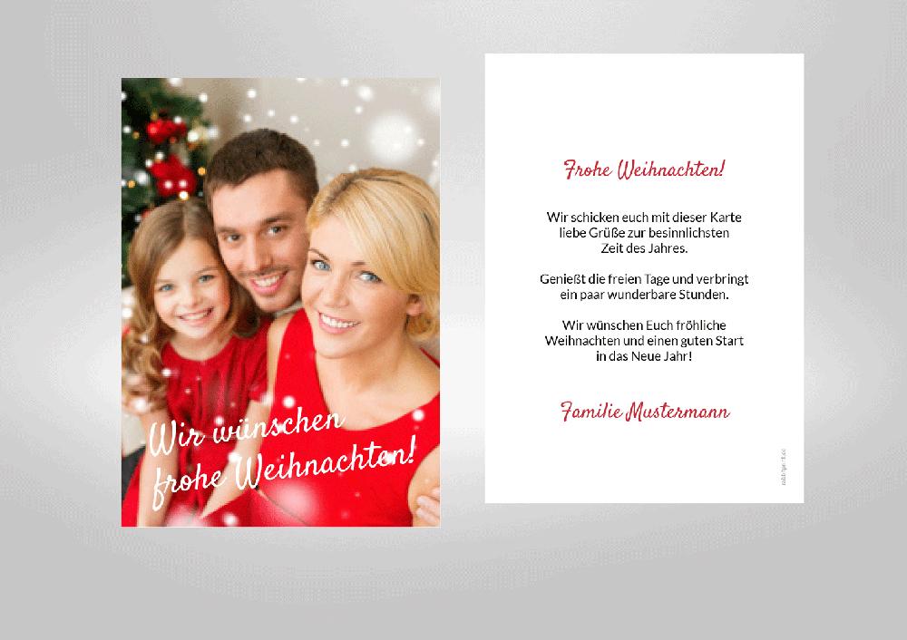 Persönliche Weihnachtskarten Foto.Gestalten Sie Spielend Einfach Ihre Persönlichen Weihnachtskarten